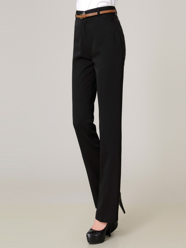 Formal High-waist Wide Straight Pants