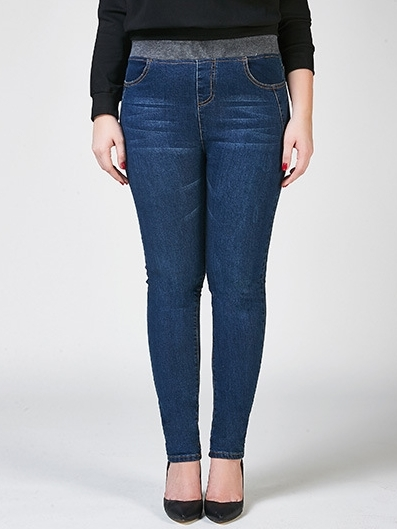 Elaine Dark Blue Skinny Denim Jeans