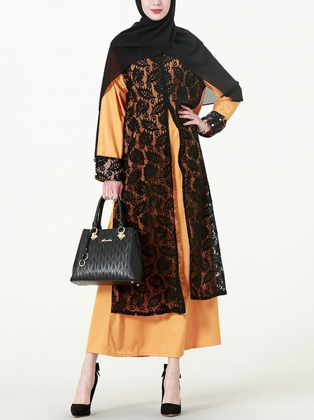 (M-7XL) Kimba Abaya Lace Layer Maxi Dress