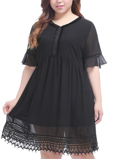 Linnet Black Layer Layer Dress