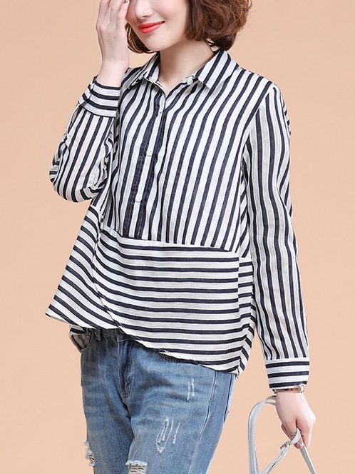 Luisne L/s Wrap Shirt Blouse
