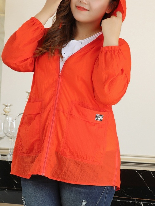 Ludema Orange Light Hooded Jacket (EXTRA BIG)