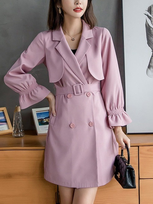 Lusia Pink Trench Coat