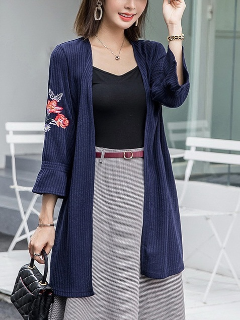 Luma Floral Embroidery Knit Cardigan