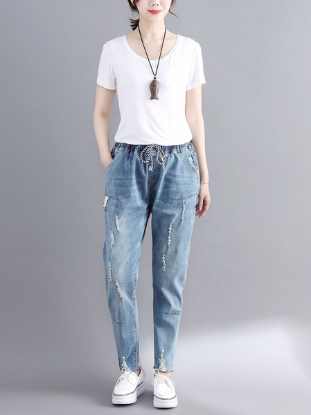 Luzetta Drawstring Denim Jeans (EXTRA BIG)