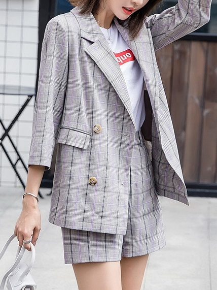 Lyta Plaid Blazer