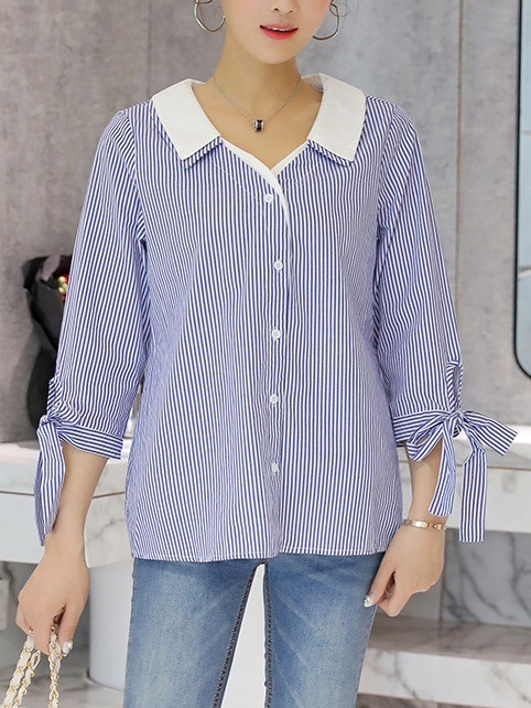 Madyson Stripe Shirt Blouse