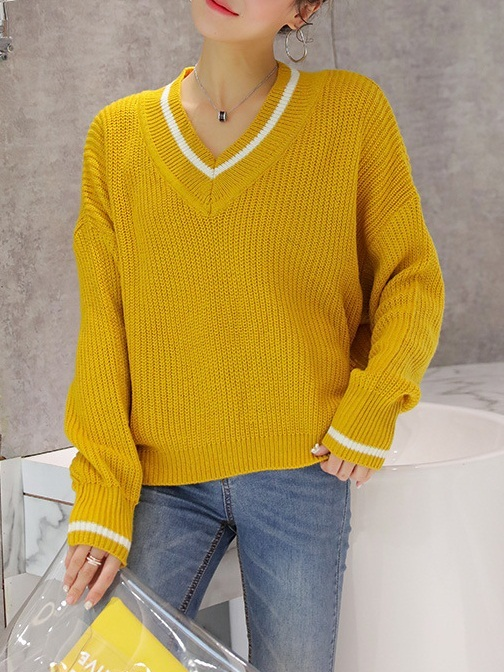 Maeby Yellow Knit Sweater