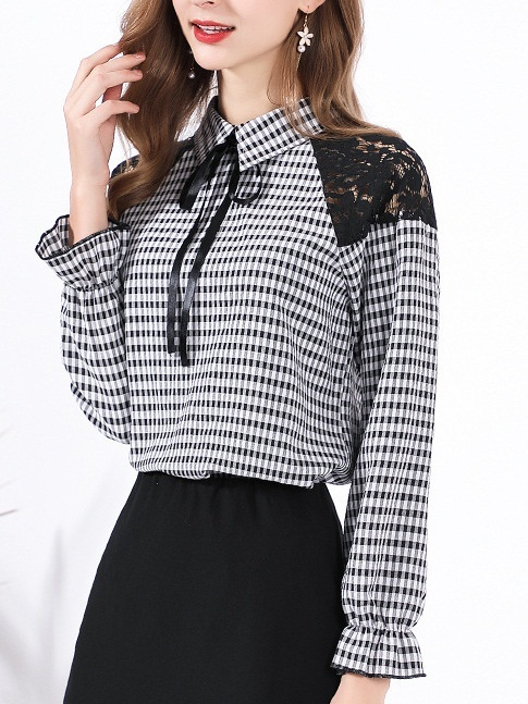 Magna Checks Monochrome Blouse
