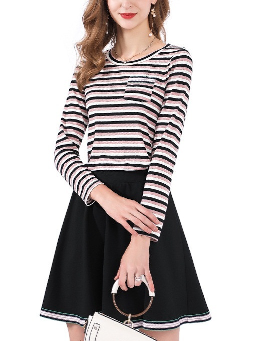 Mahri Stripe Top and Skirt Set