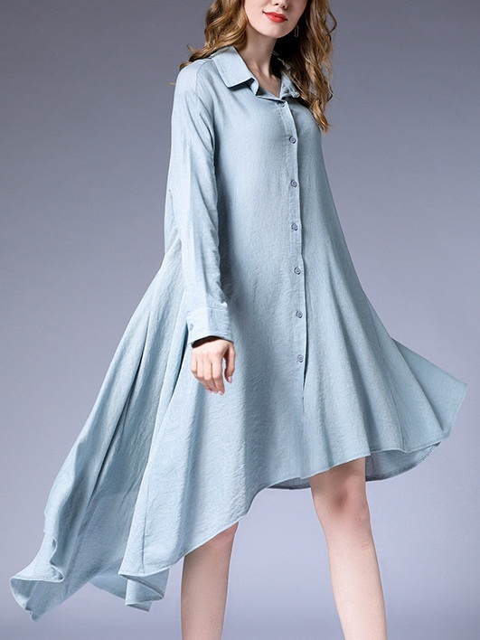 Maisie Bow Tie Bias Shirt Dress