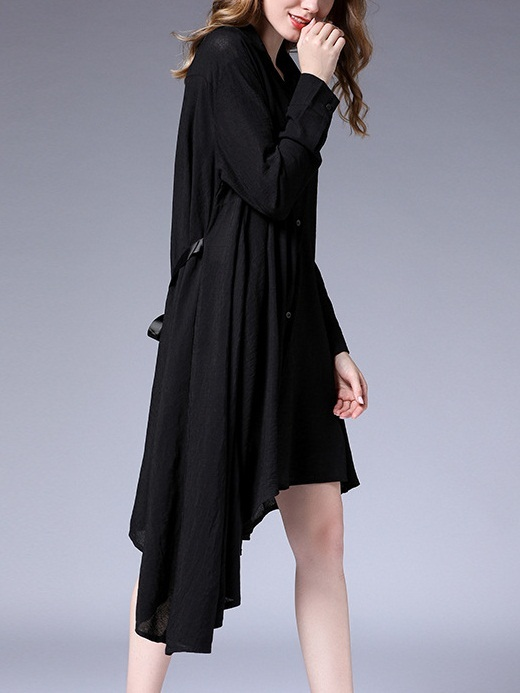 Maisie Bow Tie Bias Shirt Dress (2 COLOURS)