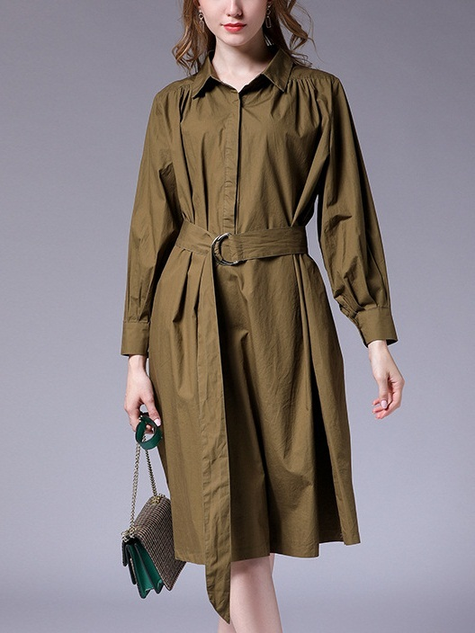 Maisy Removable Waist Tie Shirt Dress