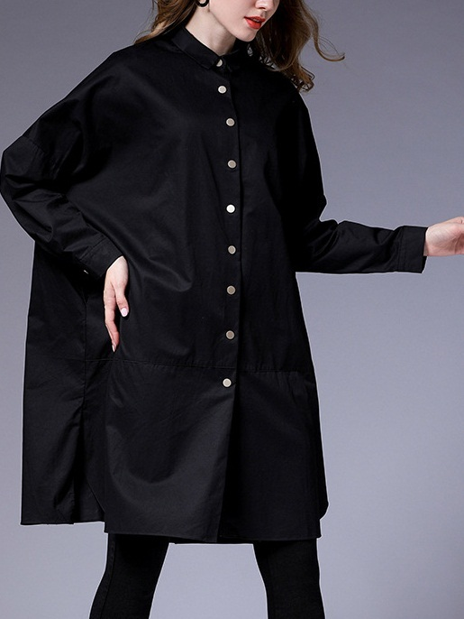 Maiya Curve Side Loose Tunic Shirt