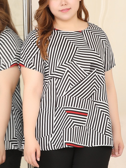 Makynzie Geometric Blouse (EXTRA BIG)
