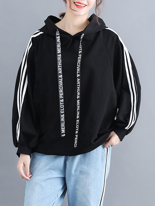 Maliha Words Lanyard Sporty Hoody
