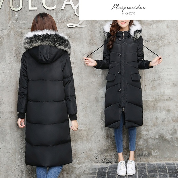 Manda Hoody Tunic Long Padded Winter Coat Jacket