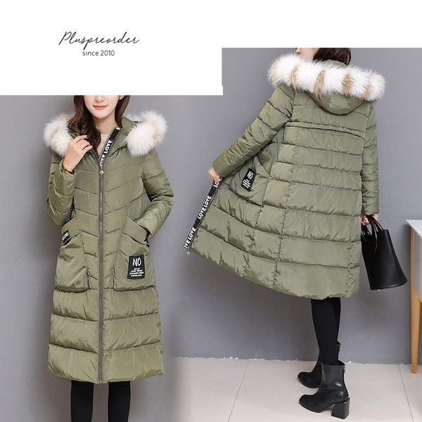 Malory LOVE Slogan Hoody Long Winter Jacket Coat