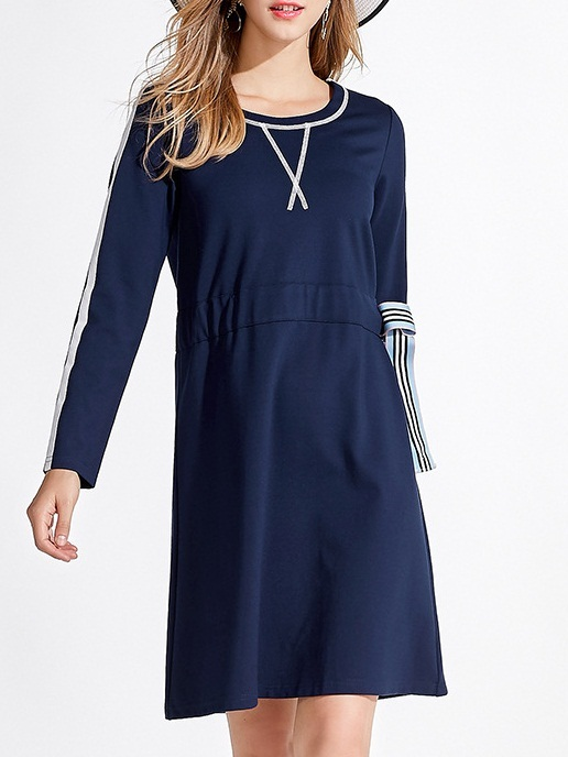 Manya Side-Tie Navy Dress