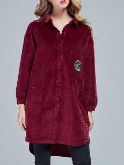 Manon Corduroy Longer Back Shirt