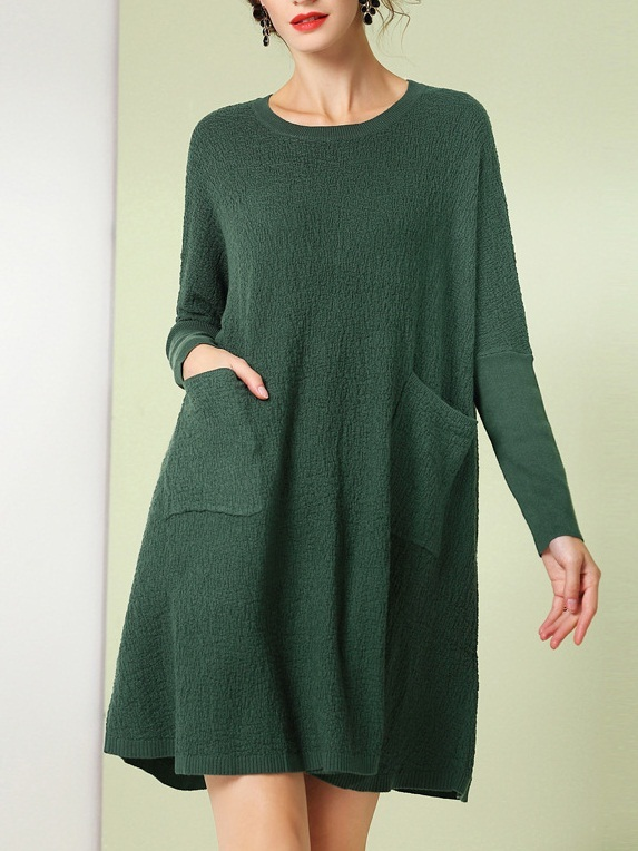 Manju Pocket L/s Loose Dress