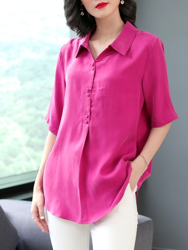 Manini Silk Cupro Shirt Blouse