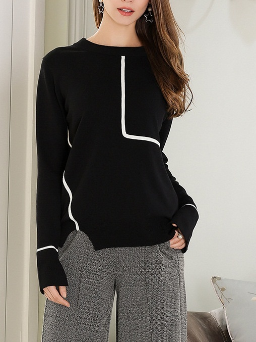 Marca Monochrome Line Knit Sweater