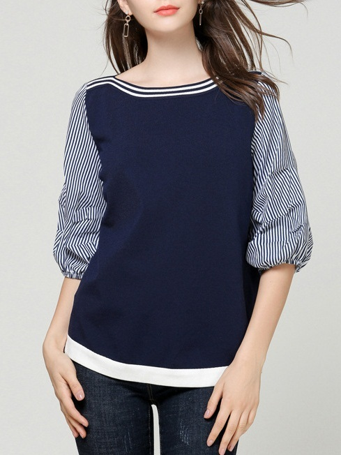 Marbella Knit Stripe Layer Blouse