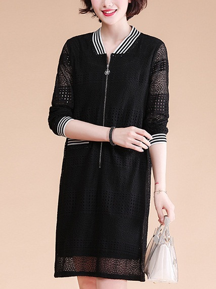 Marianna Lace Zip-up Dress