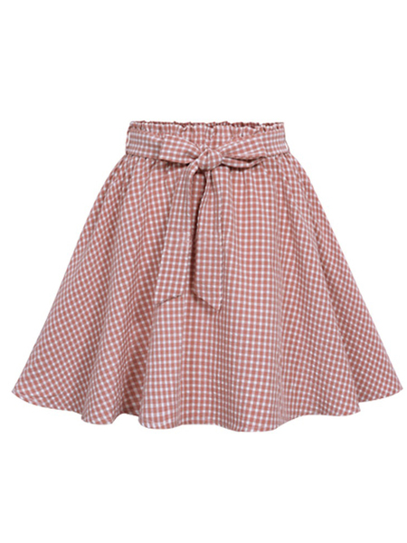 Marie-Emmanuelle Gingham Skirt (With Inner Lining Shorts)