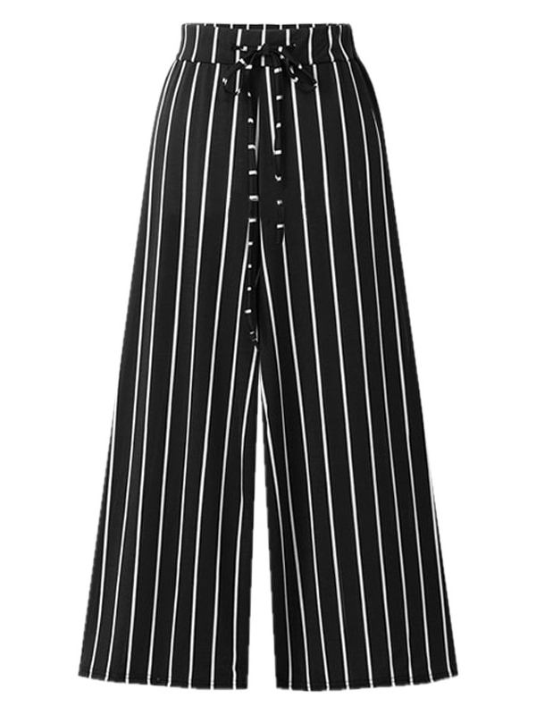 Marie-France Stripe Wide Leg Culottes