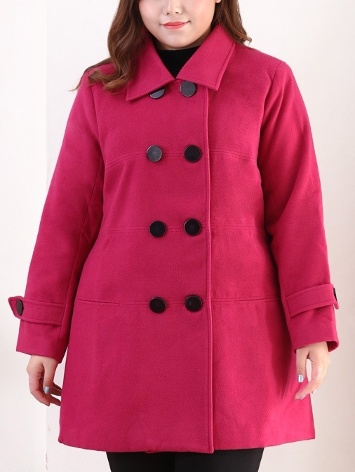 Evelyn Double Breast Winter Coat (EXTRA BIG SIZE)
