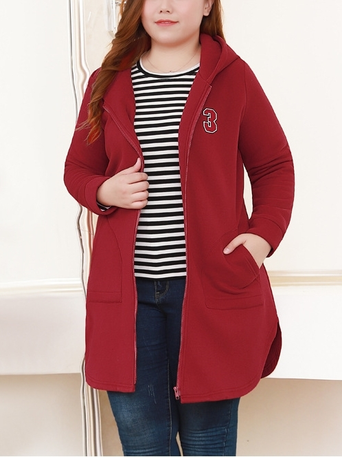 Thick Long Curve-side Hoody Jacket (EXTRA BIG SIZE)