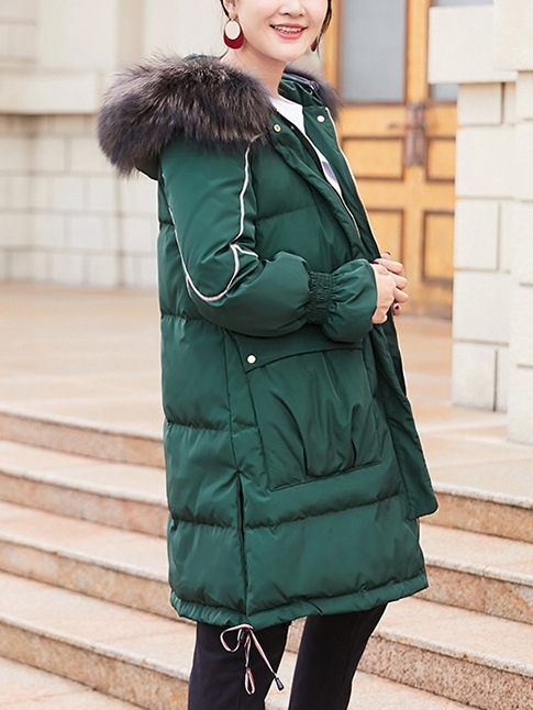 Down Hoody Winter Long Jacket (EXTRA BIG SIZE)