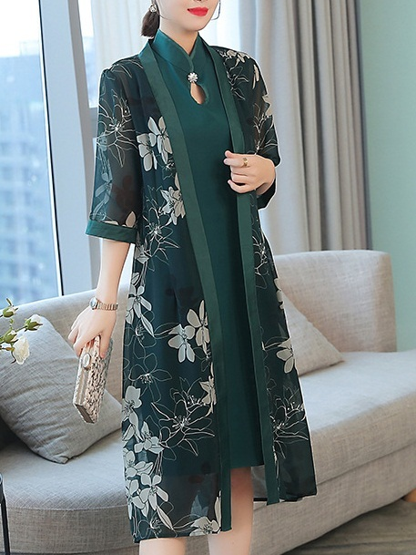 Marva (Bust 88-104CM) Jacket and Qipao Dress Set