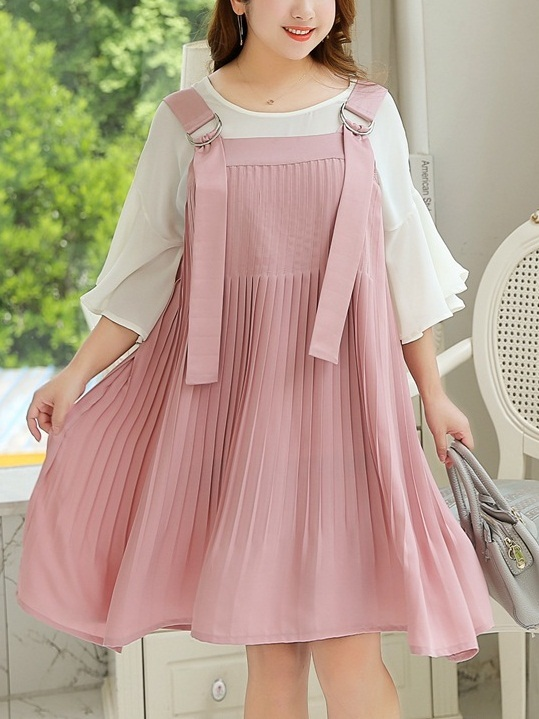 Maryssa [SET] Blouse and Pinafore Dress Set