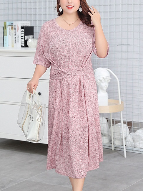 Mayra Knit Relaxed Tee Midi Dress
