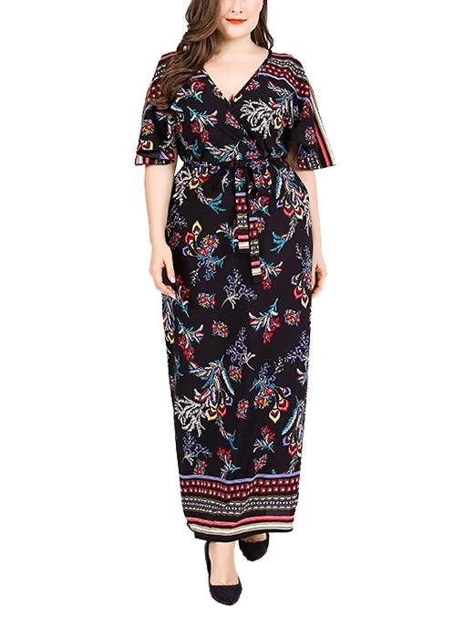 Printed Maxi Dress (EXTRA BIG SIZE)
