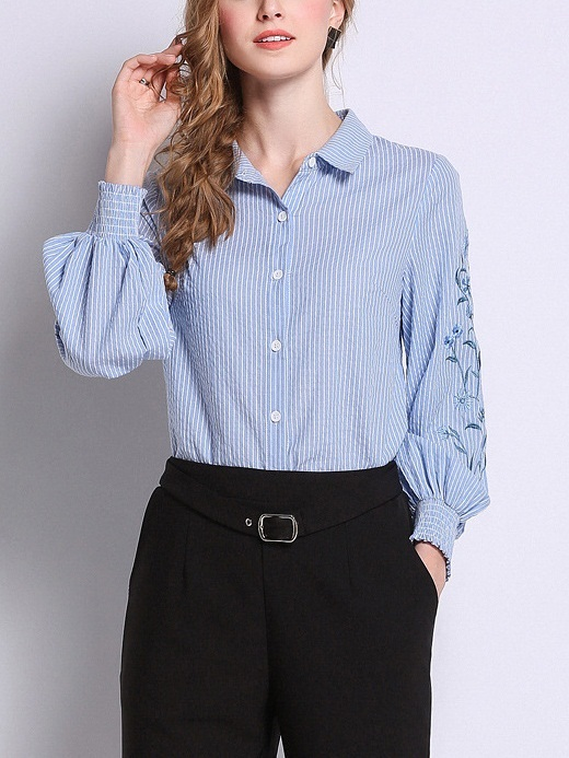 Mestra Embroidery Sleeve Shirt Blouse