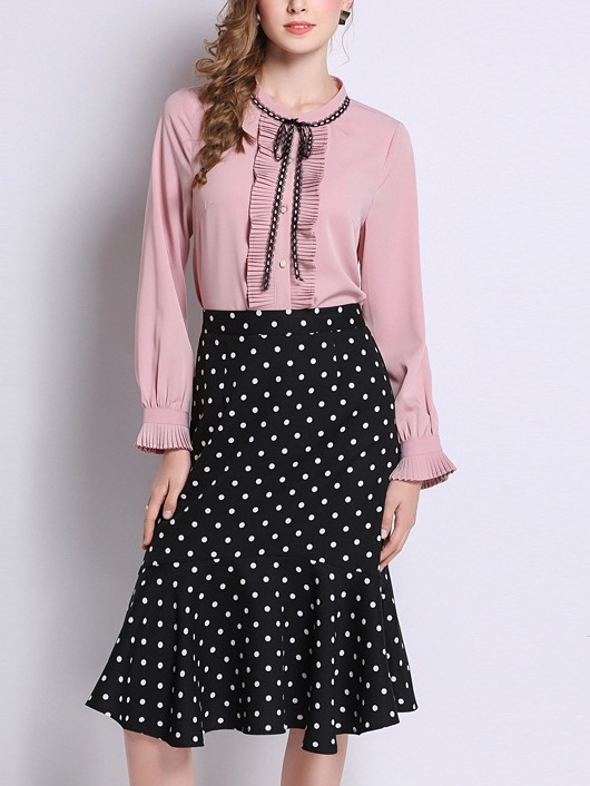 Metha Pink Pleat Blouse