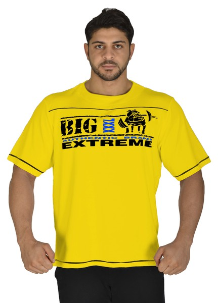 Yellow Training Workout T-shirt Big Sam Product *3226*