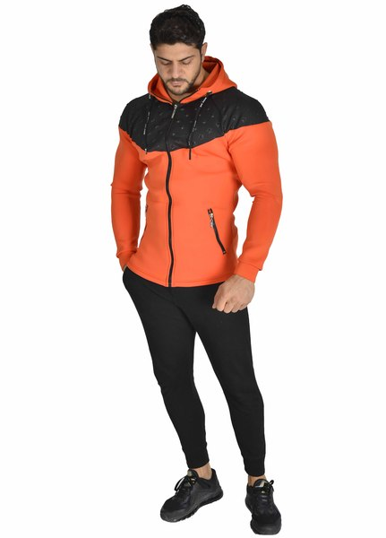 Men's Stretch Zipper Hoodie Fitness Sweatshirt Stilya 3616
