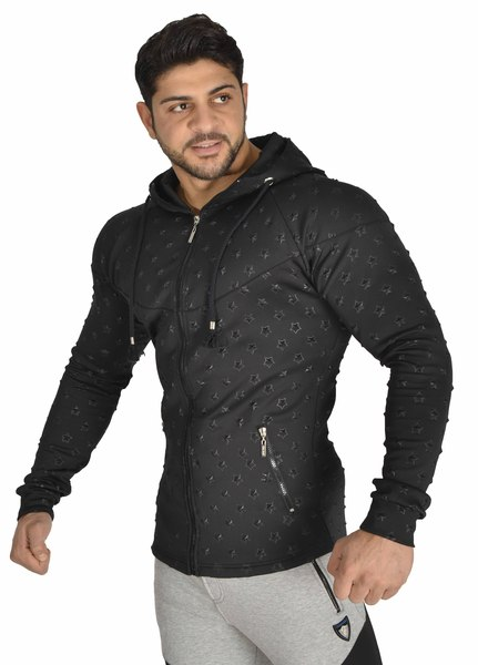 Men's Starry Zipper Stretch Hoodie Jacket Stilya 3618