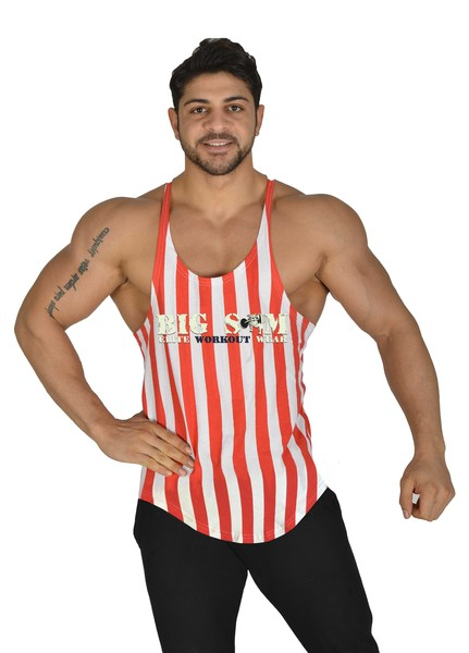*2282* Stripped Workout Fitness Muscelshirt Big Sam