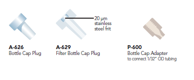 Idex Bottle Cap Plugs and Adapters