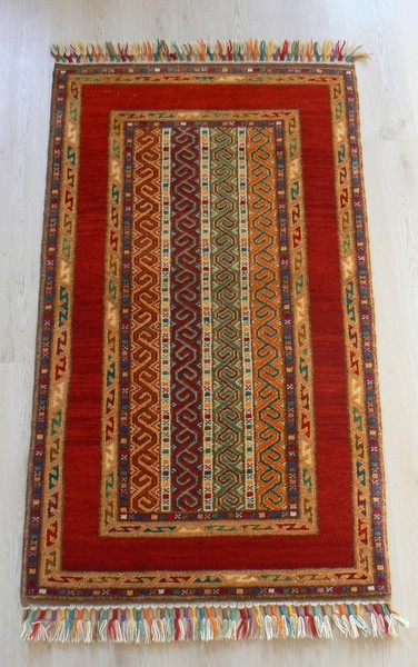 Turkish, Shal Handmade Red Rug