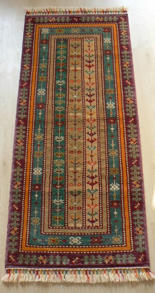 Turkish, Shal Handmade Runner Rug