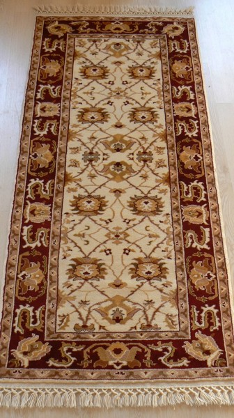 Turkish, Very Rare Handmade Runner Rug