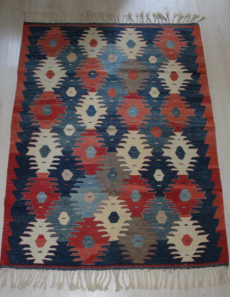 Oushak, Vegetable Dye Handmade Kilim Rug