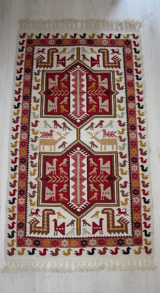 Soumak, Vegetable Dye Handmade Kilim Rug